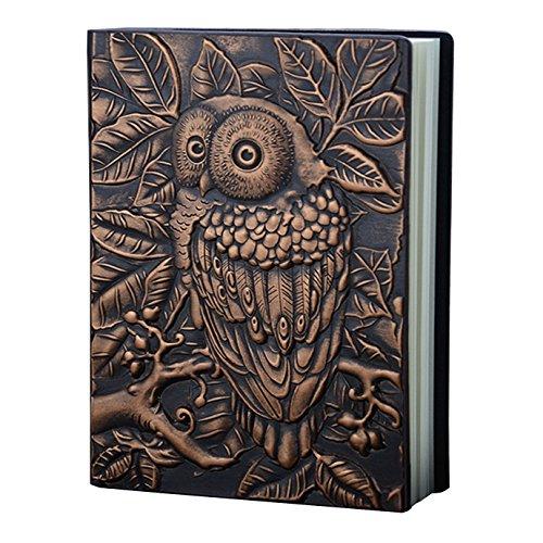 Haut Laptop Owl (La Haute Vintage Notebooks Kunstleder geprägt Eule Design Travel Journal Persönliches tagebuch Einband Gutes Geschenk vintage Owl)