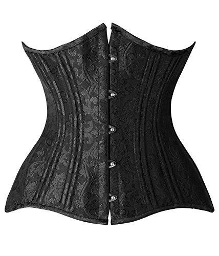 camellias-24-double-steel-boned-longline-heavy-duty-waist-training-corset-shaper-uk-sz1975-black-xl