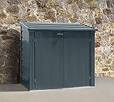 Spacemaker Mülltonnenbox, Aufbewahrungsbox, Gerätebox Anthrazit 144x75x128 cm Mülltonnenunterstand & Mülltonnenverkleidung