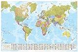 Weltkarte, Staaten der Erde mit Flaggen 1:35 Mio. (MAIRDUMONT Panoramen)