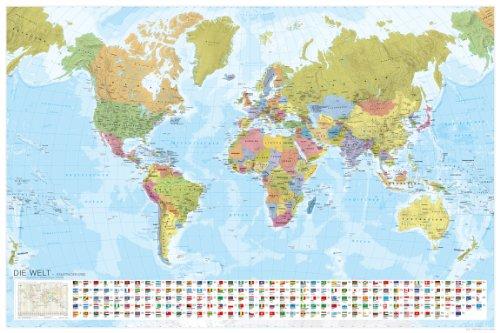 er Erde mit Flaggen 1:35 Mio. (MAIRDUMONT Panoramen) ()