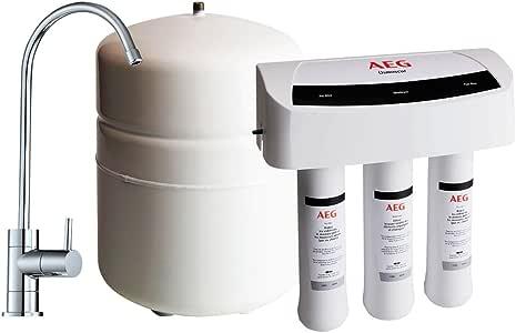 AEG Osmoseur (AEGRO) -Filtre Les Métaux Lourds Système d'osmose Inverse pour Filtration d'eau sous Évier, Blanc
