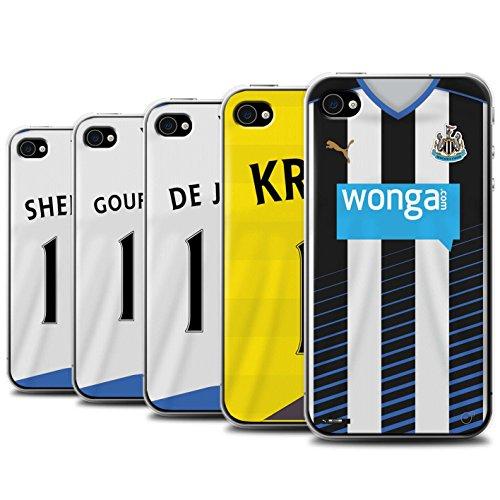 Offiziell Newcastle United FC Hülle / Case für Apple iPhone 4/4S / Pack 29pcs Muster / NUFC Trikot Home 15/16 Kollektion Pack 29pcs