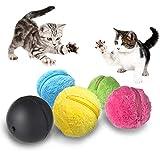 Yoelike Magic Roller Ball Spielzeug Auto IQ Hund Katze Pet Toy Automatische Roller Ball mit 4 Farbe Ball Cover Cleaning Home Pet Toys - Keep Moving und drehen Sie Richtung automatisch