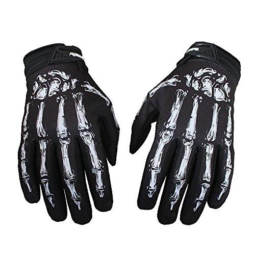 Warme Winter-handschuhe (Eizur Radfahren Fahrrad Motorrad Touchscreen Skelett Handschuhe Outdoor Sport Winter Warme Skidproof Dauerhaft Winterhandschuhe für Fahrrad Motorrad Moto-Cross Größe M/L/XL Farbe Grün/Weiß)