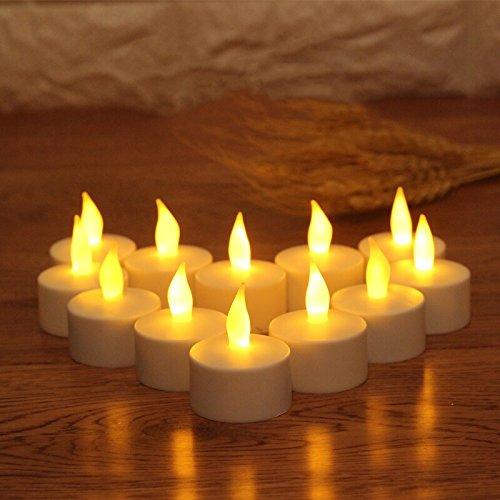 Jzk 12 lumini a batteria finta candela led con fiamma vacillante candeline led luce decorazione tavolo matrimonio san valentino halloween natale