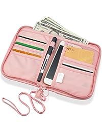 SPAHER Cartera para pasaporte Cartera de Viaje para Documentos Porta de Pasaporte Portadocumentos de Viaje Unisex Organizador de documento familiares para Tarjetas de Crédito Monedas Billetes de Viaje