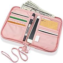 SPAHER Cartera para pasaporte Cartera de Viaje para Documentos Porta de Pasaporte Portadocumentos de Viaje Unisex