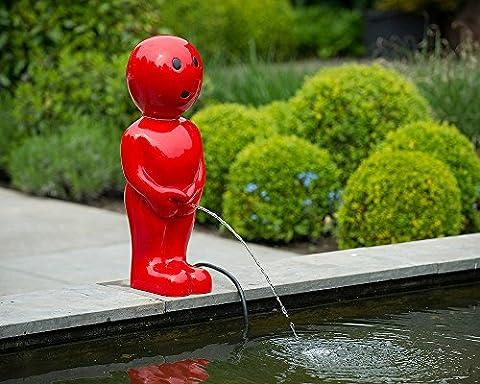 Skulptur Boy rot H67, Dekoration für Teich oder Terrasse