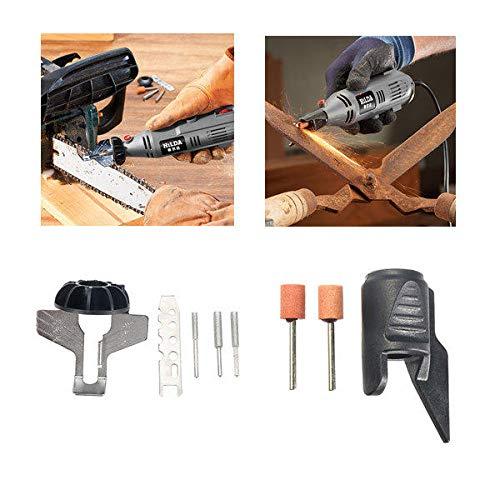 GIlH HILDA Kettensäge Schärfaufsatz Sharpener Leitfaden mit Gartenwerkzeug Spitzer Drill Adapter