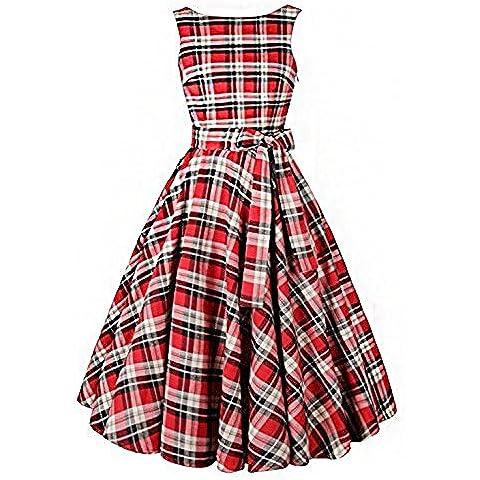 Babyonlinedress - Vestido - trapecio - Clásico - Sin mangas - para mujer