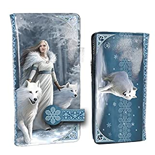 Anne Stokes Winter Guardians Wolf Embossed Purse