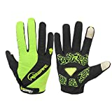 BAICHEN Sportschuhe Winter Outdoor verschleißfeste Touchscreen-Handschuhe Laufen Fahren Radfahren Unisex rot-grün blau DREI Farben,Green,L
