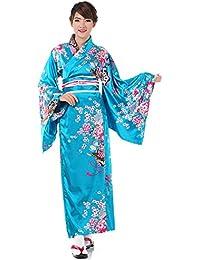 Japanischer Geisha Satin Kimono Sakura S M 36 38 40 42