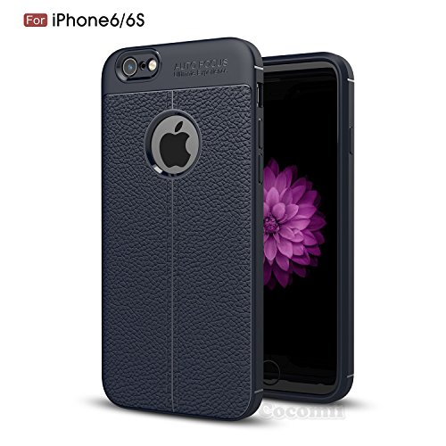 iPhone 6S / 6 Hülle, Cocomii Ultimate Armor NEW [Heavy Duty] Premium Leather Pattern Slim Fit Shockproof Hard Bumper Shell [Military Defender] Full Body Dual Layer Rugged Cover Case Schutzhülle Apple  Deep Blue