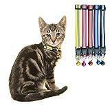 HOMIMP Reflektierendes Hundehalsband mit Glöckchen, verstellbar, für Kleine Haustiere, Welpen, 5 Stück