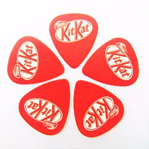 kitkat-nestle-chocolate-bar-food-printed-plectrum-guitar-picks-set-of-5
