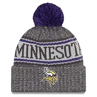 New Era Minnesota Vikings Beanie NFL 2018 Sideline Sport Graphite Knit Purple/Grey - One-Size