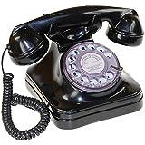 REPLICA DE TELEFONO ANTIGUO AÑOS 50 COLOR NEGRO DIAL GIRATORIO TRANSPARENTE