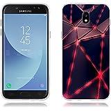 """Funda Samsung J5 2017/J530 Carcasa Protectora de Silicona de Calidad Superior -FUBAODA- Diseño de Triángulos Luminoso, Resistente a Golpes, Antipolvo, Resiste a los Arañazos Carcasa Completa Resistente para Samsung J5 2017/J530 (5.2"""")"""