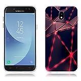 Funda Samsung J5 2017/J530 Carcasa Protectora de Silicona de Calidad Superior -FUBAODA- Diseño de Triángulos Luminoso, Resistente a Golpes, Antipolvo, Resiste a los Arañazos Carcasa Completa Resistente para Samsung J5 2017/J530 (5.2')