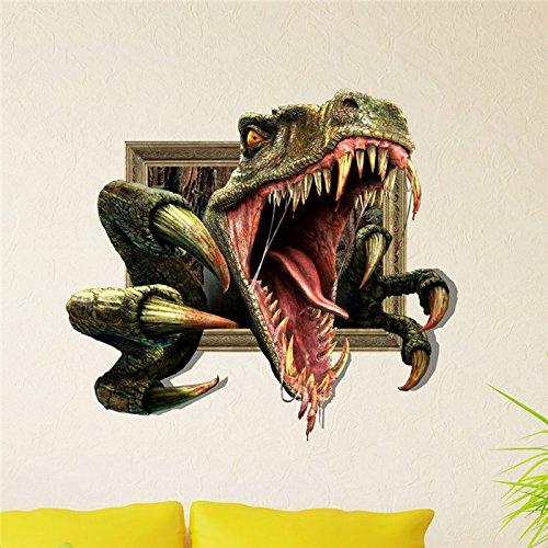 3D Wand Aufkleber Tier Pag Aufkleber Abnehmbare Wand Aufkleber Home Dinosaurier Dekor Geschenk ()
