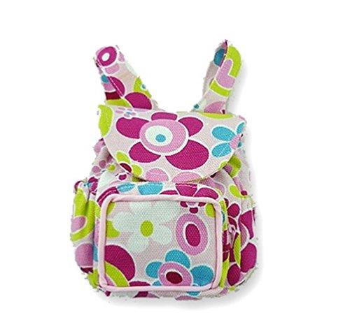Flower ZIP Back Pack Bag Teddy Bear clothes fits Build a Bear Factory Teddies