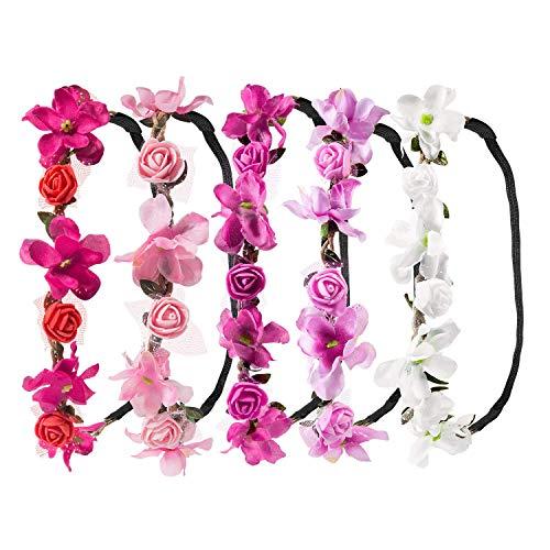 Luau Frisuren - LANGING 5 Stück Krone Haarband Kopfband