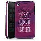 DeinDesign Coque Compatible avec Apple iPhone 3Gs Étui Housse Licorne Rigolo Phrase