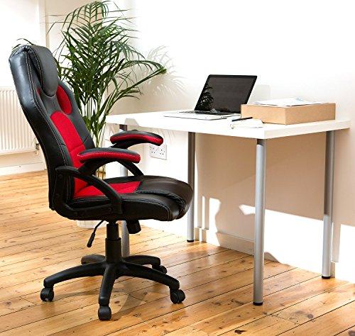 homefresco designer racing style high back luxury home office