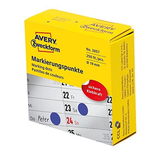 Avery Zweckform etiqueta 19mm Marcar punto BL, 250ST