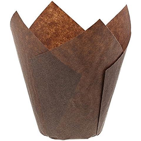 Royal marrone tulipano stile Baking Cup, maniche, grande di