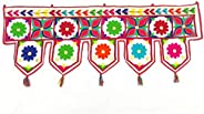 Prapti handicrafts Traditional Hand Embroidered Fabric toran for Main Door Decoration for Home