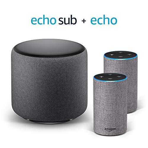 Echo Stereo System - 2 Echo (2ª generazione), Tessuto grigio mélange +...