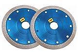 125mmx22mm Ultra Thin Circle Diamant Sägeblatt zum Schneiden von Granit Keramik Marmorfliesen (2 Stück)