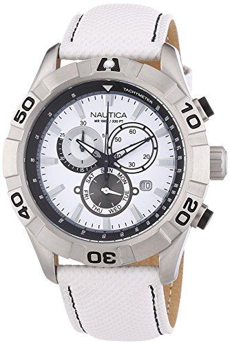 nautica-a18629g-montre-homme-quartz-chronographe-cadran-blanc-bracelet-cuir-blanc