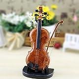 DDOQ Caja de música de diseño de violín para la decoración de la Tienda de Instrumentos Musicales