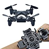 Koiiko WiFi FPV Drone With Camera,Watch Style Remote Control Pocket Drone 4CH 4Axis 2.4G Portable Foldable Mini RC Quadcopter UFO For Kids Birthday Present Christmas Gifts