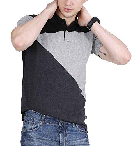 Fanideaz-Mens-Tri-Colour-Cotton-Black-Collar-Premium-Polo-Tshirt