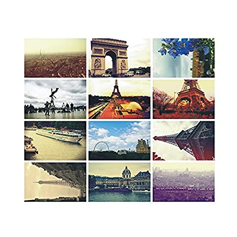 Zhi Jin Lot de 30cartes postales Ensemble de rétro Expédition vierge carte postale Lot de feuilles de papier avec boîte de citations pour Worth collectionner de voyage paris