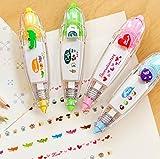 biggroup 4Neuheit Aufkleber Maschinen DIY Malerei Stifte Korrekturroller Pretty Muster für Kinder
