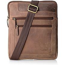 Packenger Thuras Umhängetasche mit IPad - Fach, Unisex aus Echtleder Koffer, 42 cm, 36 Liter
