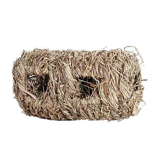 Kaninchen-Gras-Haus Alles natürliche handgewebte Gras-Tunnel-Haus, das Spielzeug für Kleintiere-Hamster-Meerschweinchen-Häschen kaut