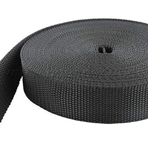 10m PP Gurtband - 50mm breit - 1,4mm stark - schwarz (UV) -