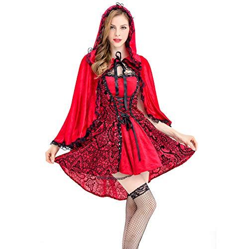 LIUONEXI Damen Abendkleider Sexy Zimmermädchen Kostüm, Königin-Kostüm Gothic Kleider Rotkäppchen (M) (Französisch Königin Kostüm)