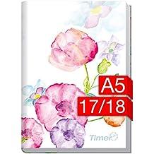 Chäff-Timer Classic A5 Kalender 2017/2018 [Blumen] 18 Monate Juli 2017-Dezember 2018 - Terminkalender mit Wochenplaner - Organizer - Wochenkalender