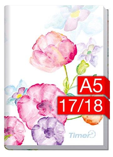 Preisvergleich Produktbild Chäff-Timer Classic A5 Kalender 2017/2018 [Blumen] 18 Monate Juli 2017-Dezember 2018 - Terminkalender mit Wochenplaner - Organizer - Wochenkalender