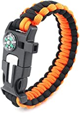 Jisen Survival Bracelet with Knife Paracord Bracelet Outdoor Emergency Bracelet