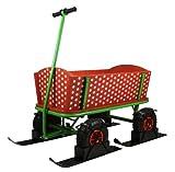 Beachtrekker Style Rotkäppchen Bollerwagen mit Schneekufen - Schlitten