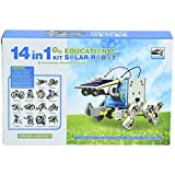 #10: Techhark 14 in 1 Educational Solar Robot Kit toys for kids Fun Help for Learning